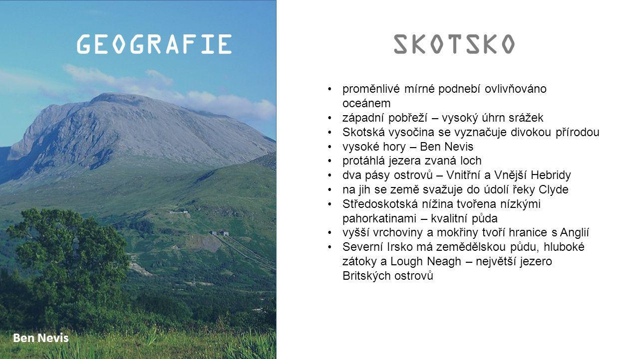 GEOGRAFIE SKOTSKO Ben Nevis