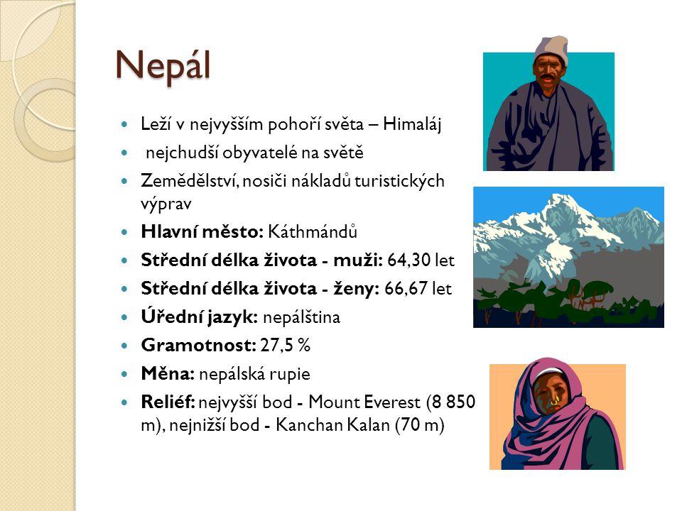 Nepál Leží v nejvyšším pohoří světa – Himaláj