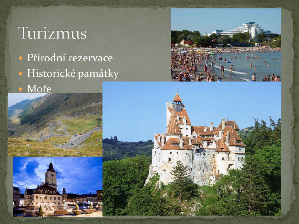 Turizmus Přírodní rezervace Historické památky Moře V pravo hrad