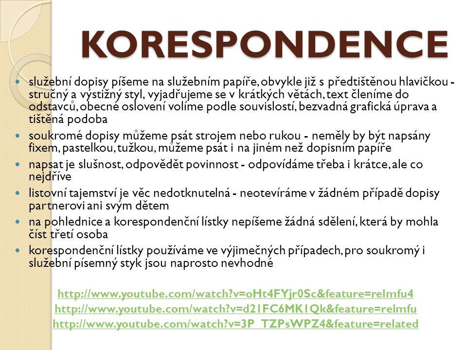 KORESPONDENCE