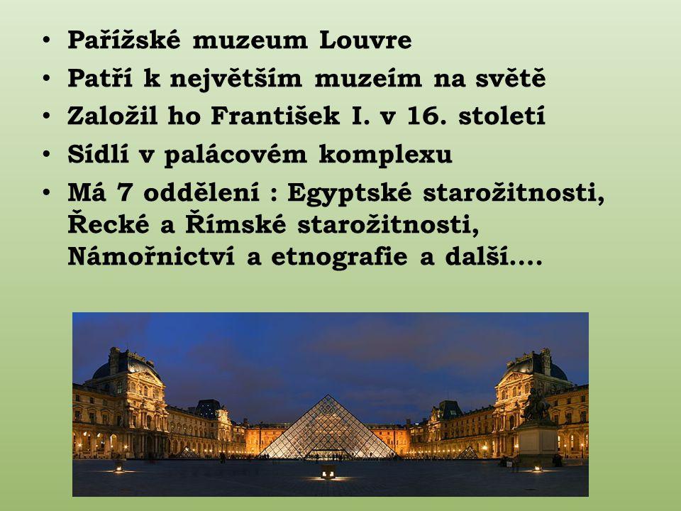 Pařížské muzeum Louvre