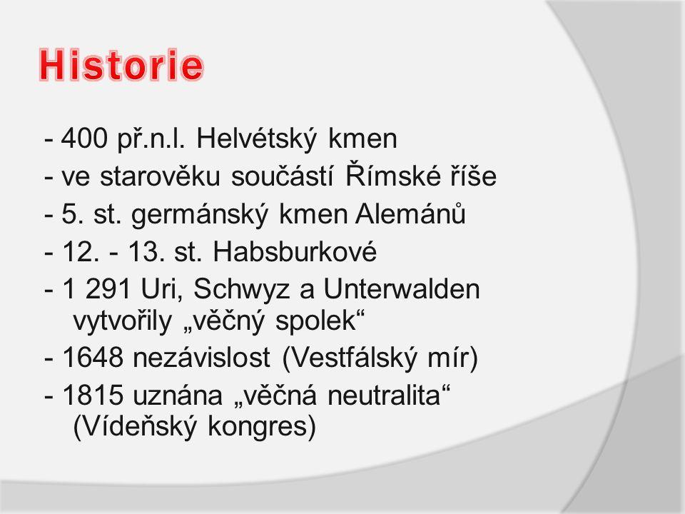 Historie - 400 př.n.l. Helvétský kmen
