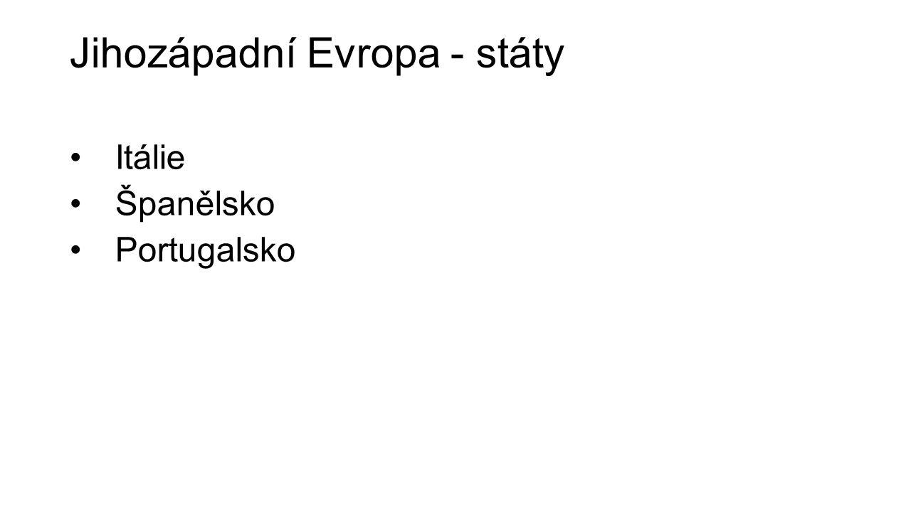 Jihozápadní Evropa - státy