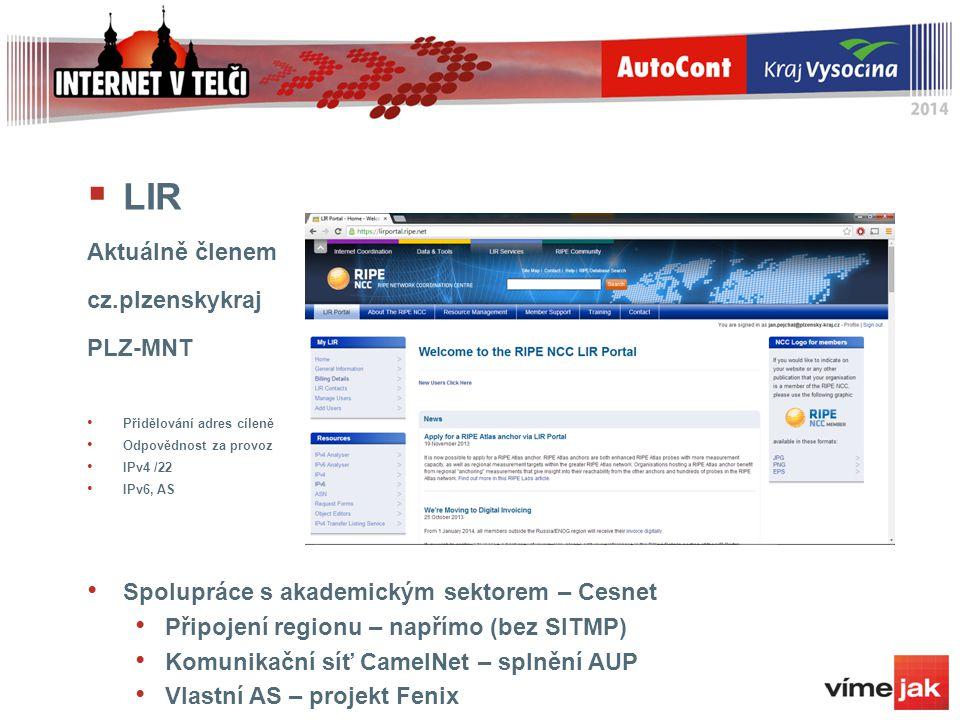 LIR Aktuálně členem cz.plzenskykraj PLZ-MNT