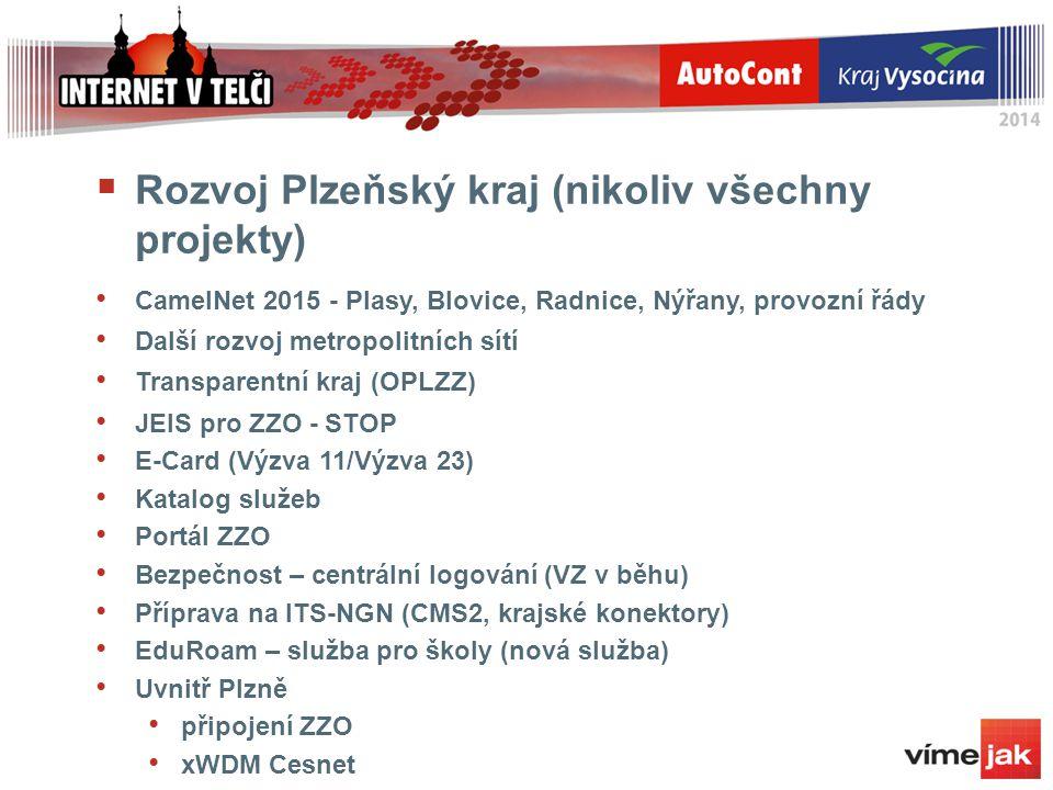 Rozvoj Plzeňský kraj (nikoliv všechny projekty)