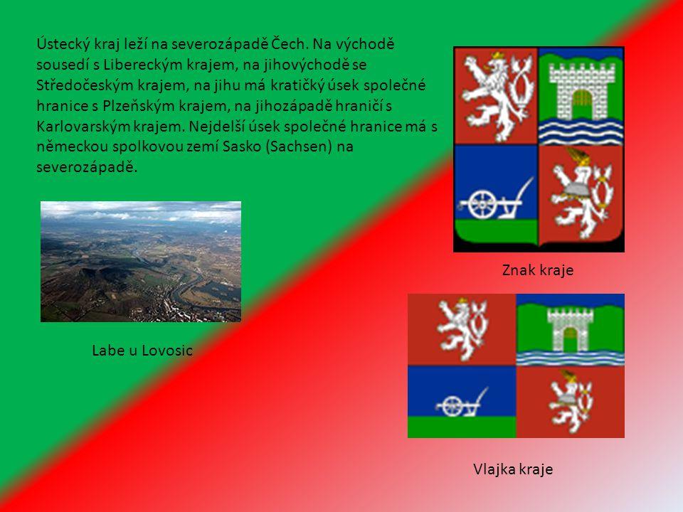Ústecký kraj leží na severozápadě Čech