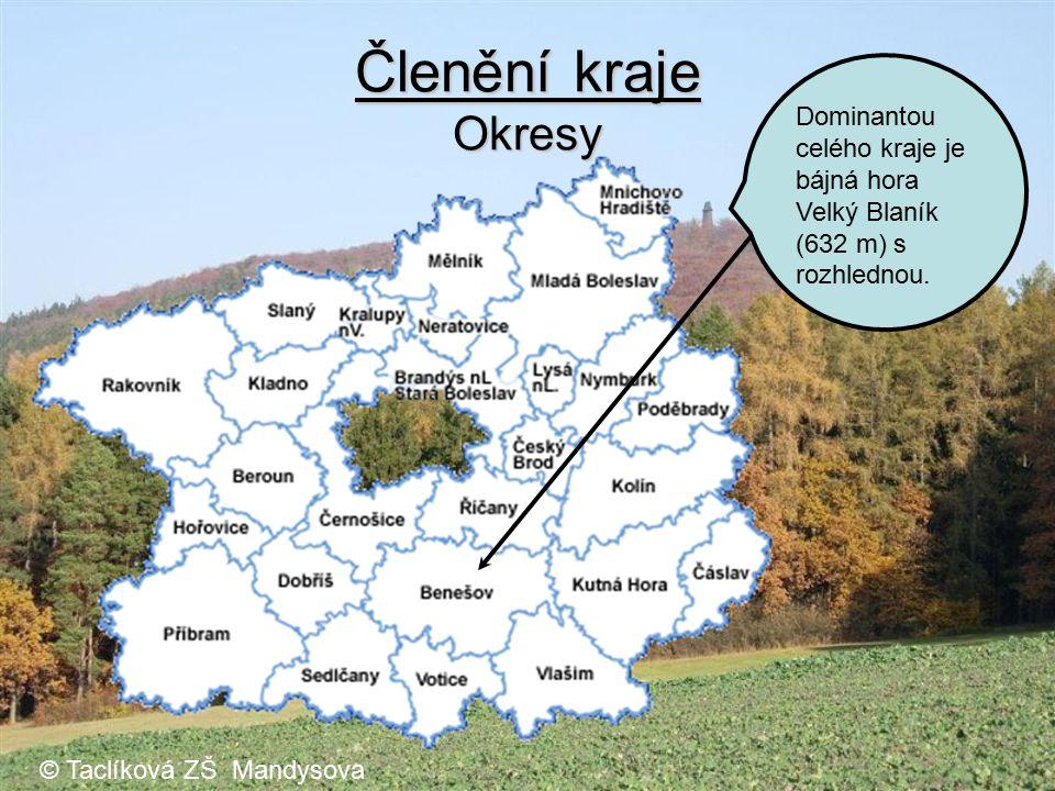 Členění kraje Okresy Benešov