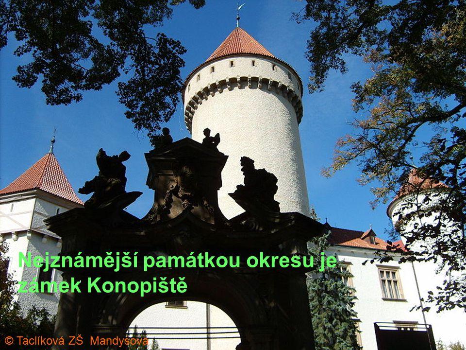 Nejznámější památkou okresu je zámek Konopiště