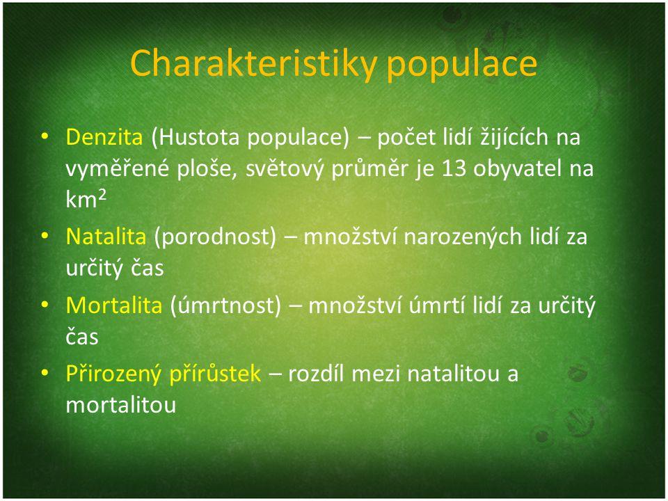 Charakteristiky populace