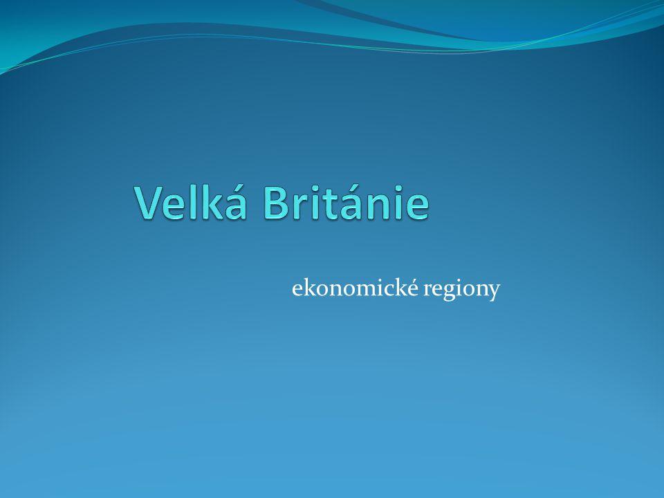 Velká Británie ekonomické regiony