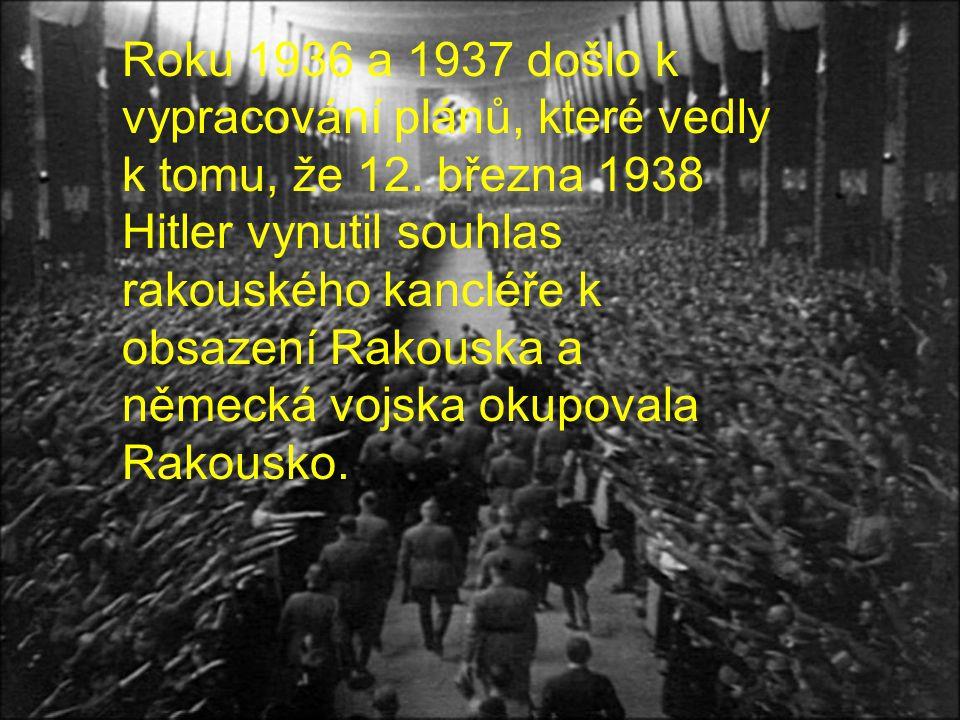 Roku 1936 a 1937 došlo k vypracování plánů, které vedly k tomu, že 12
