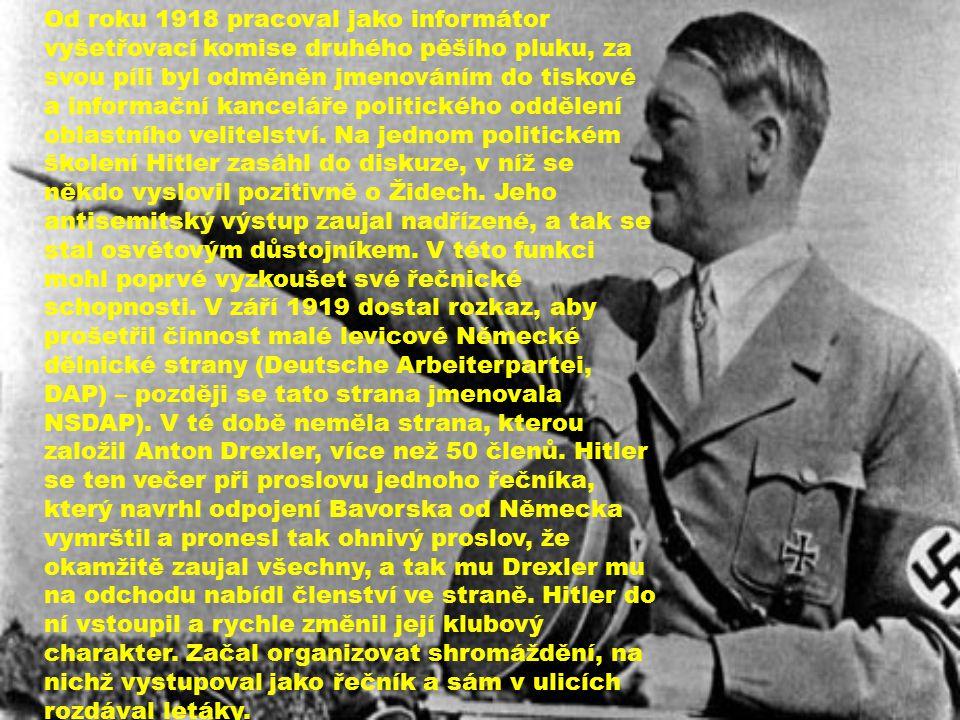 Od roku 1918 pracoval jako informátor vyšetřovací komise druhého pěšího pluku, za svou píli byl odměněn jmenováním do tiskové a informační kanceláře politického oddělení oblastního velitelství.