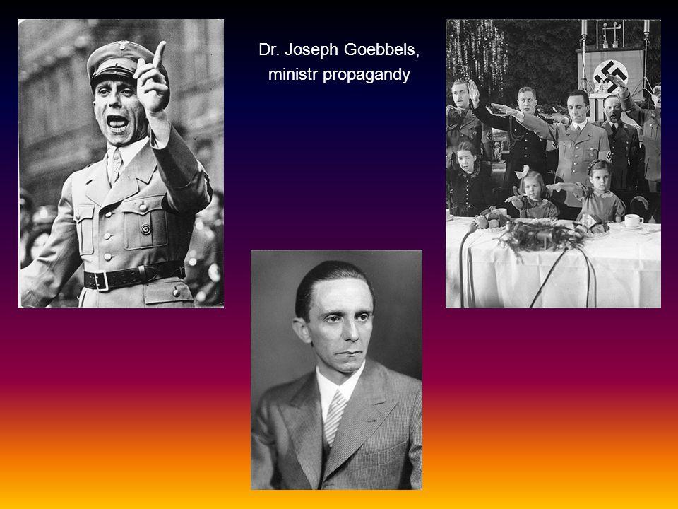 Dr. Joseph Goebbels, ministr propagandy