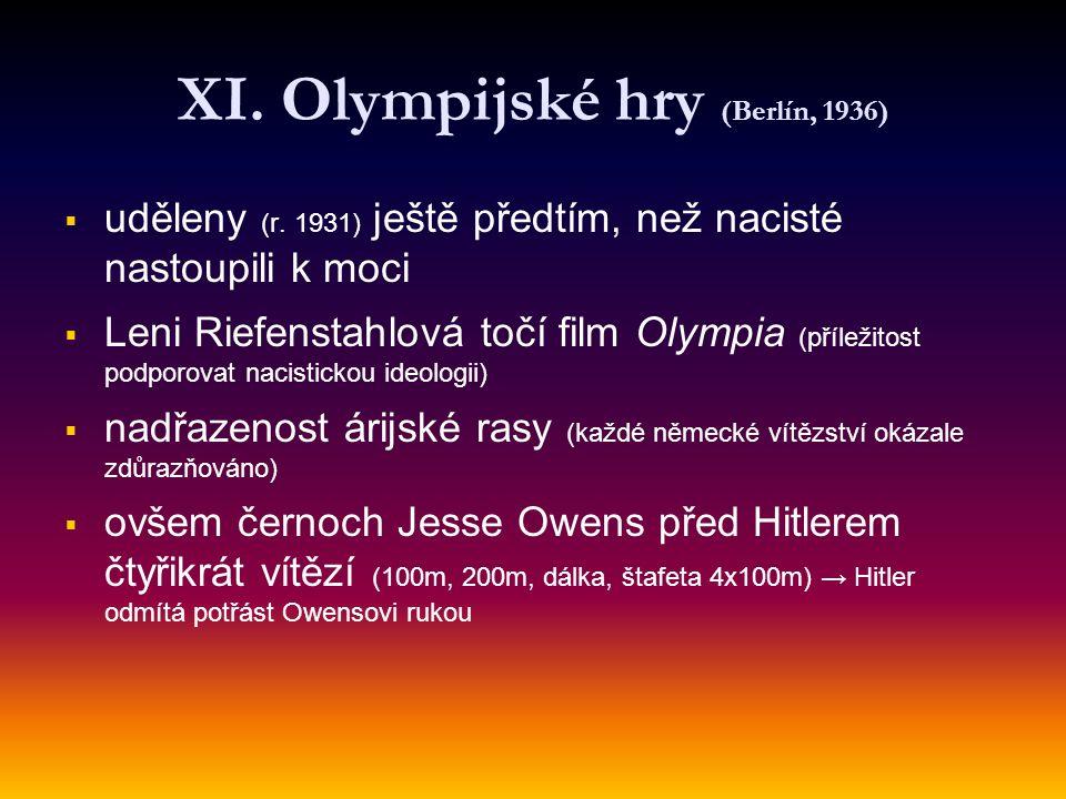 XI. Olympijské hry (Berlín, 1936)
