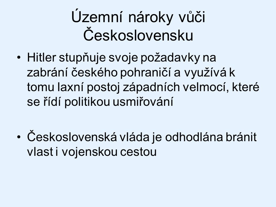Územní nároky vůči Československu