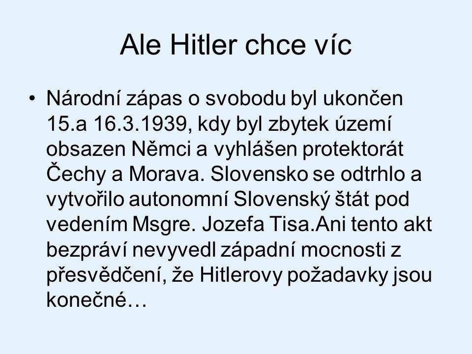 Ale Hitler chce víc
