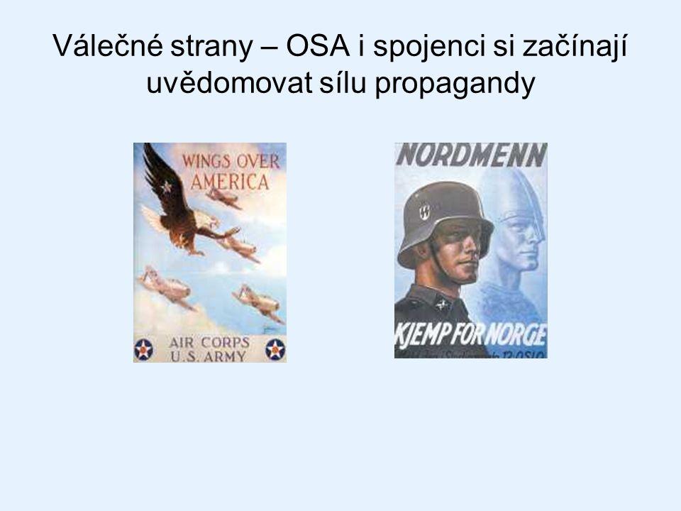 Válečné strany – OSA i spojenci si začínají uvědomovat sílu propagandy
