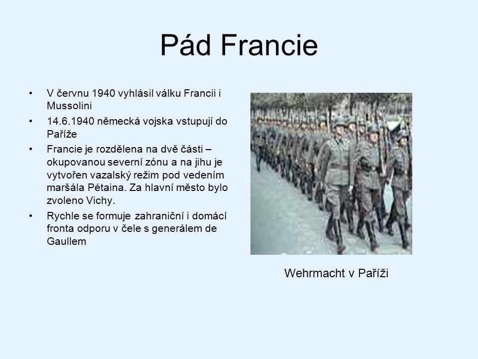 Pád Francie Wehrmacht v Paříži