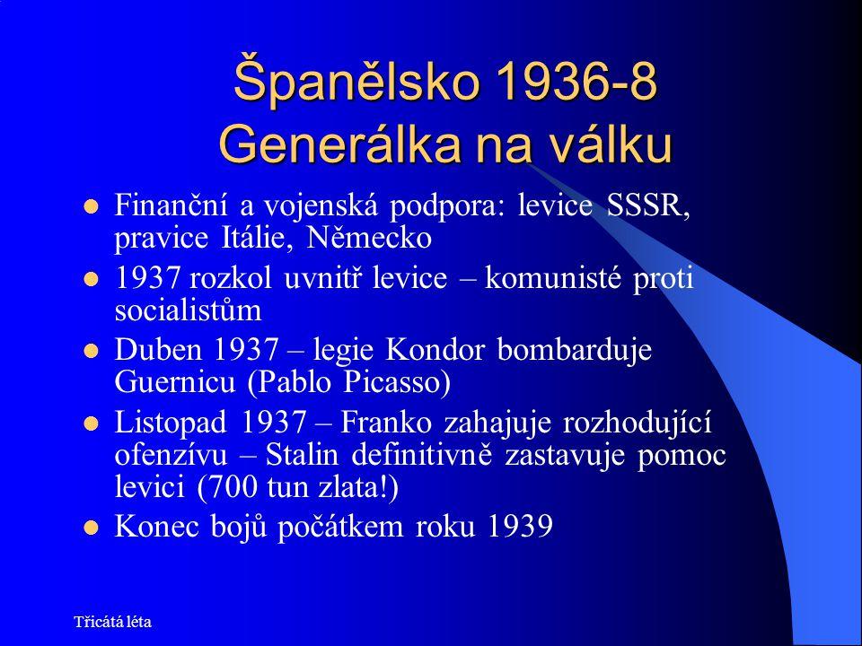 Španělsko 1936-8 Generálka na válku