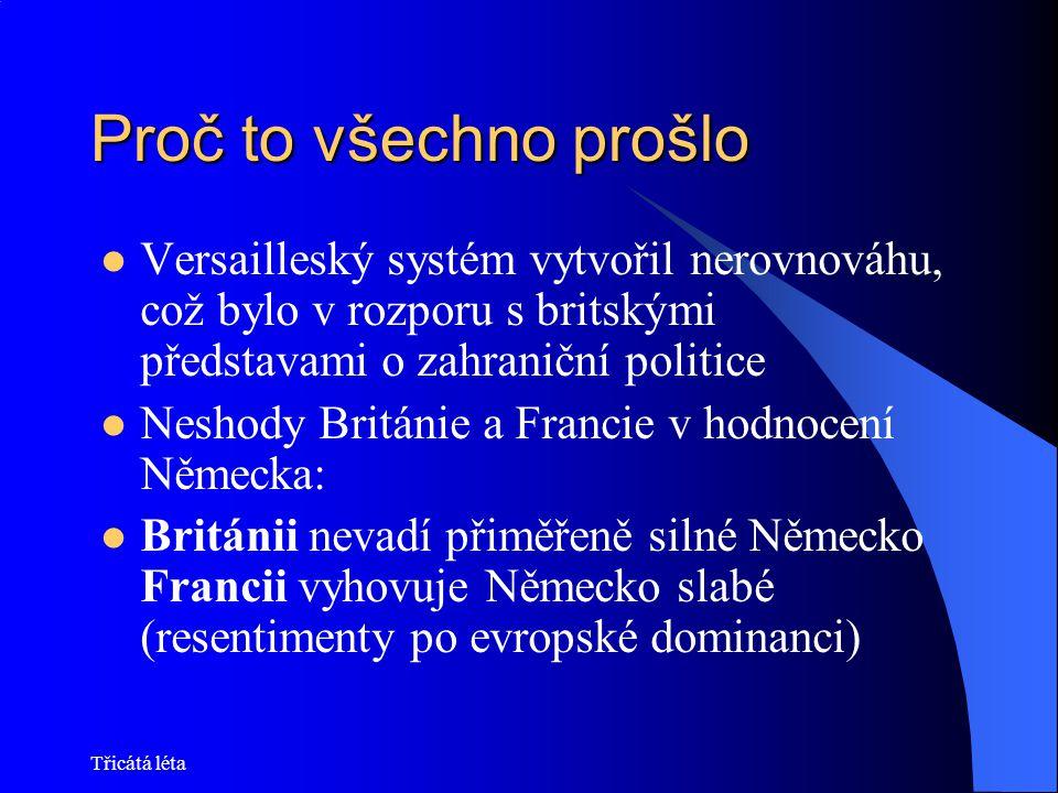 Proč to všechno prošlo Versailleský systém vytvořil nerovnováhu, což bylo v rozporu s britskými představami o zahraniční politice.
