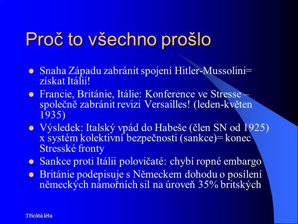 Proč to všechno prošlo Snaha Západu zabránit spojení Hitler-Mussolini= získat Itálii!