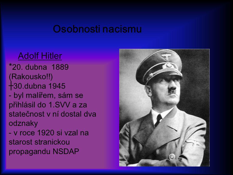 Osobnosti nacismu Adolf Hitler