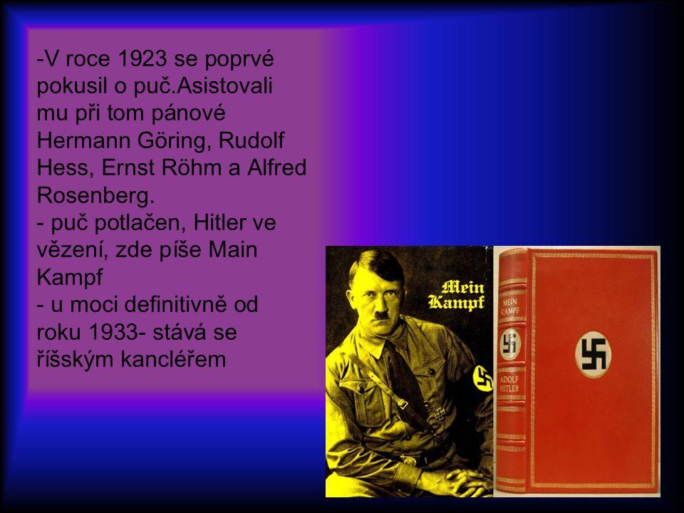 -V roce 1923 se poprvé pokusil o puč