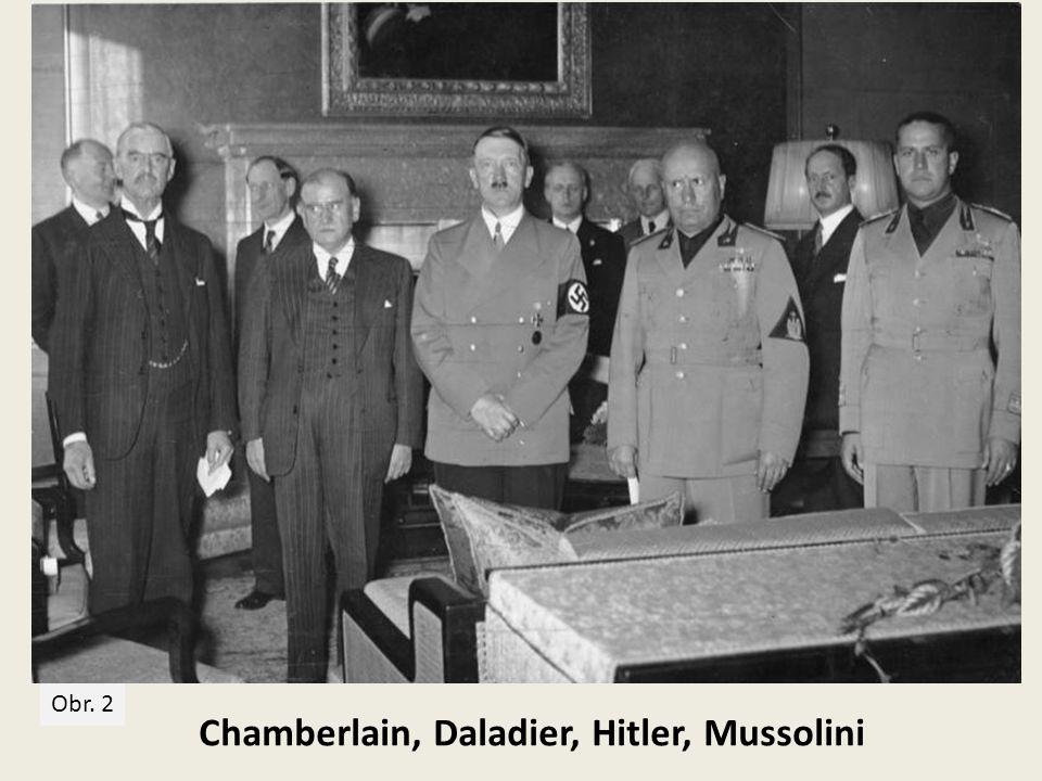 Chamberlain, Daladier, Hitler, Mussolini
