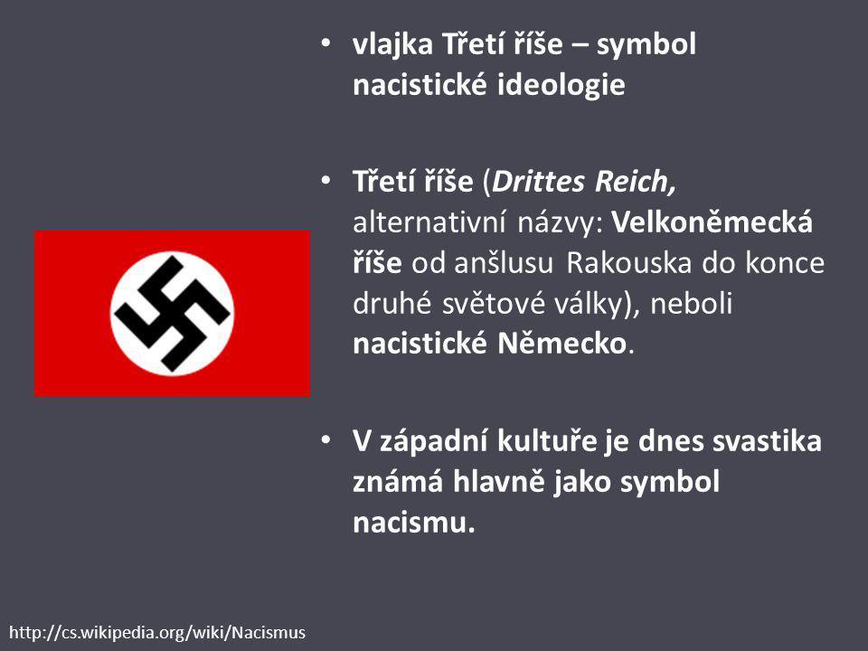 vlajka Třetí říše – symbol nacistické ideologie