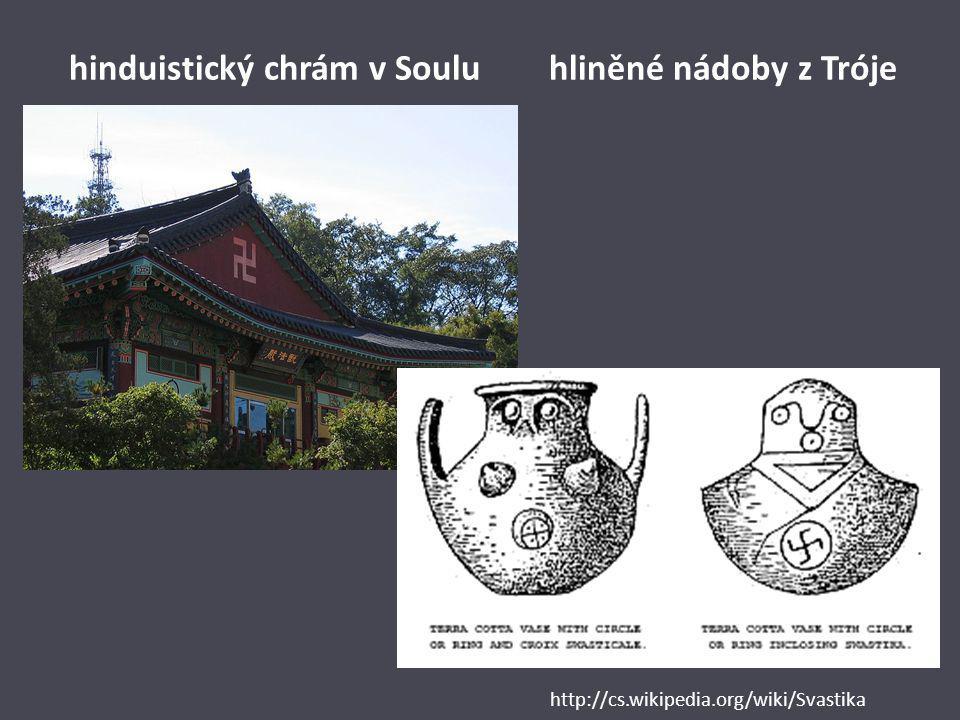 hinduistický chrám v Soulu hliněné nádoby z Tróje