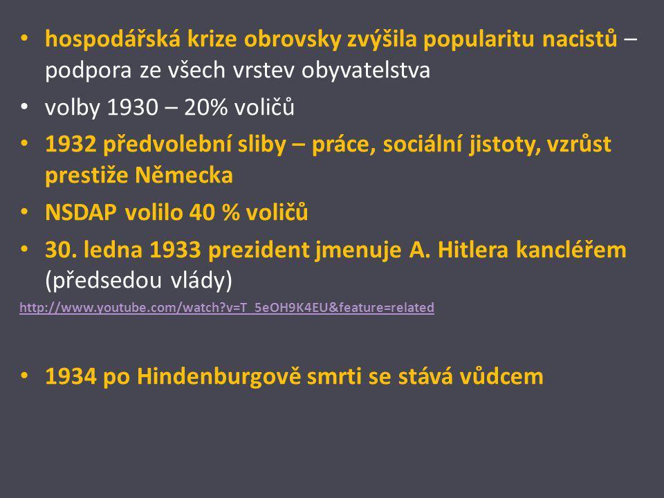 1934 po Hindenburgově smrti se stává vůdcem