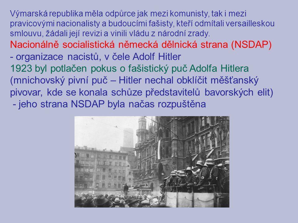Nacionálně socialistická německá dělnická strana (NSDAP)