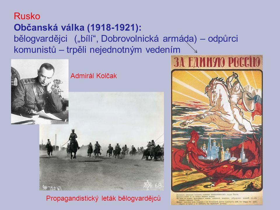 Rusko Občanská válka (1918-1921):