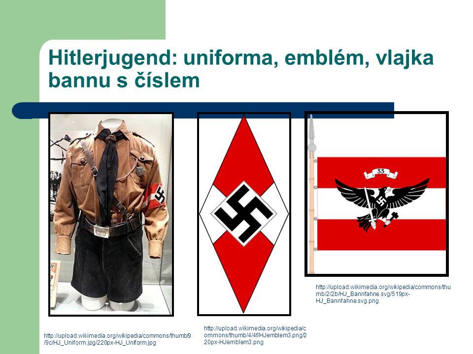 Hitlerjugend: uniforma, emblém, vlajka bannu s číslem