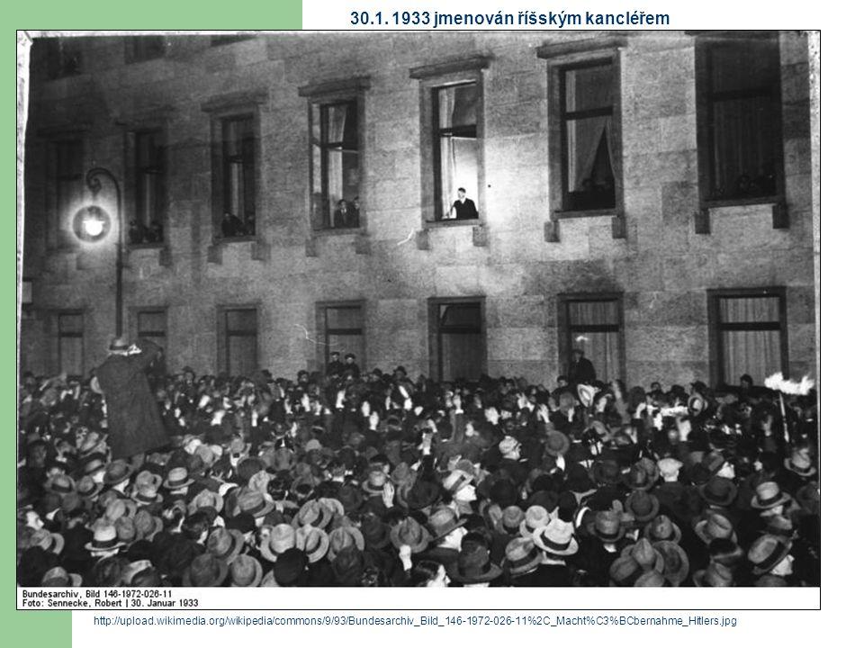 30.1. 1933 jmenován říšským kancléřem