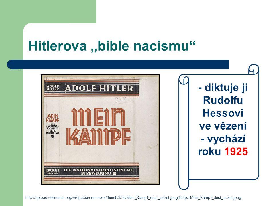 """Hitlerova """"bible nacismu"""