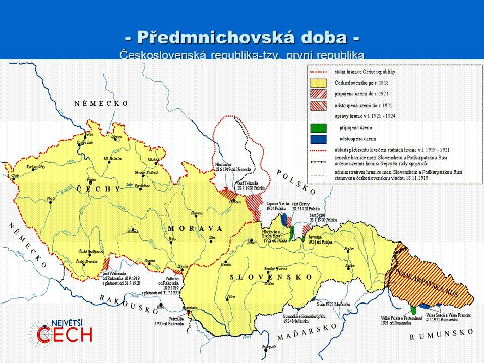 Předmnichovská doba - Československá republika-tzv. první republika