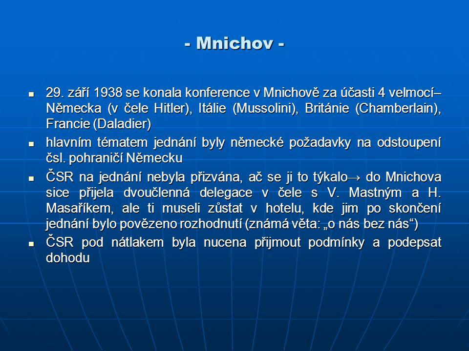 - Mnichov -