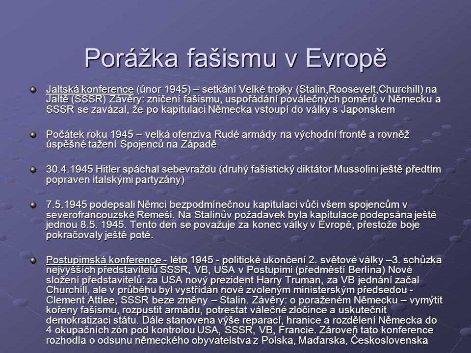 Porážka fašismu v Evropě