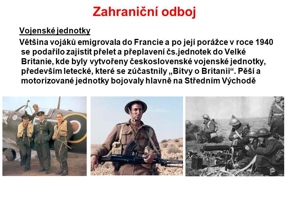 Zahraniční odboj Vojenské jednotky