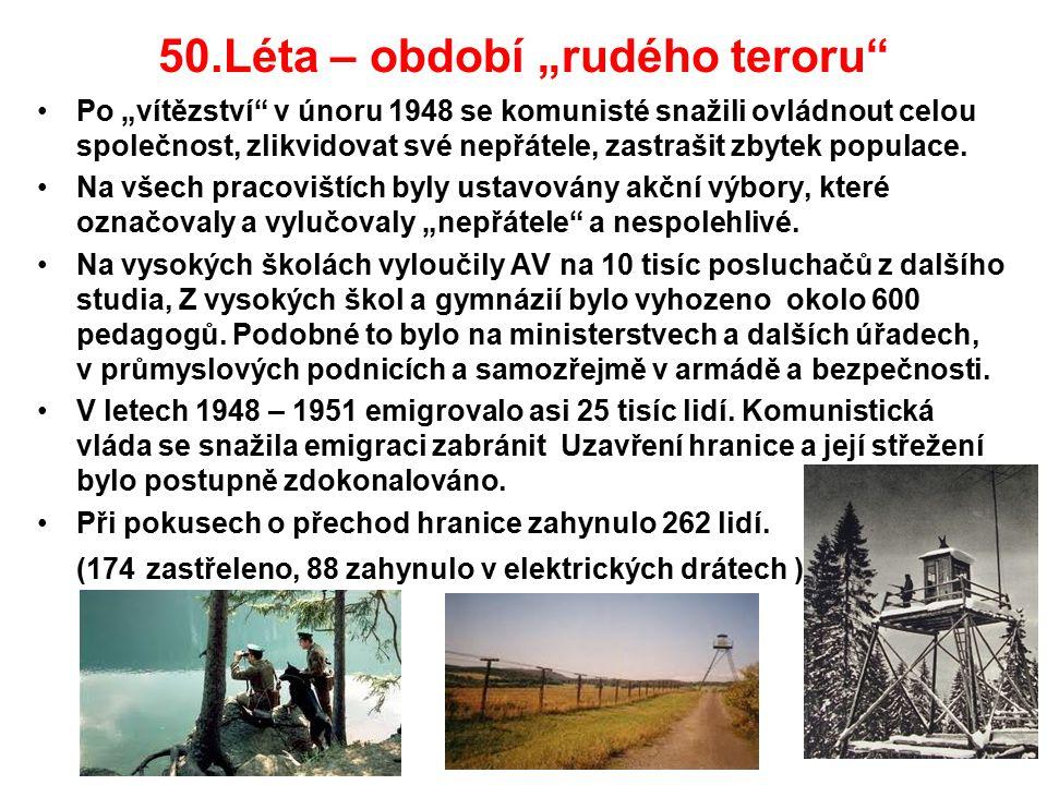 """50.Léta – období """"rudého teroru"""