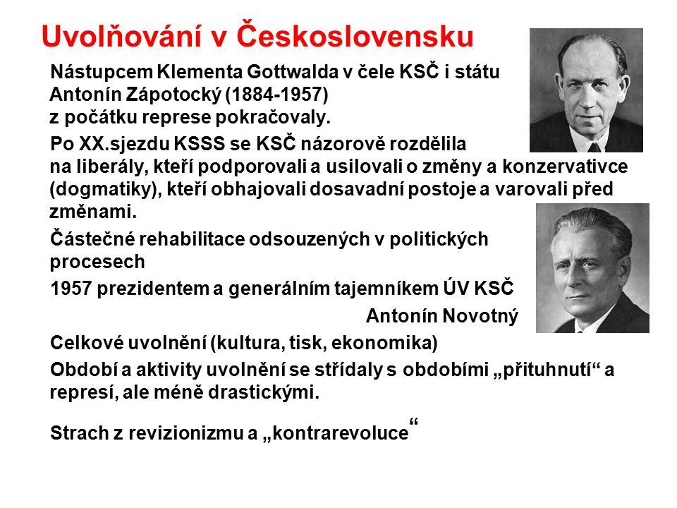 Uvolňování v Československu