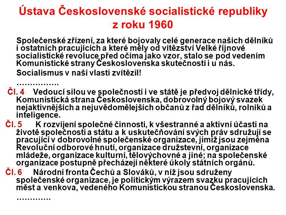Ústava Československé socialistické republiky z roku 1960