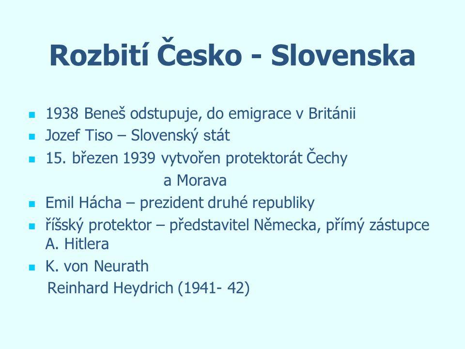 Rozbití Česko - Slovenska