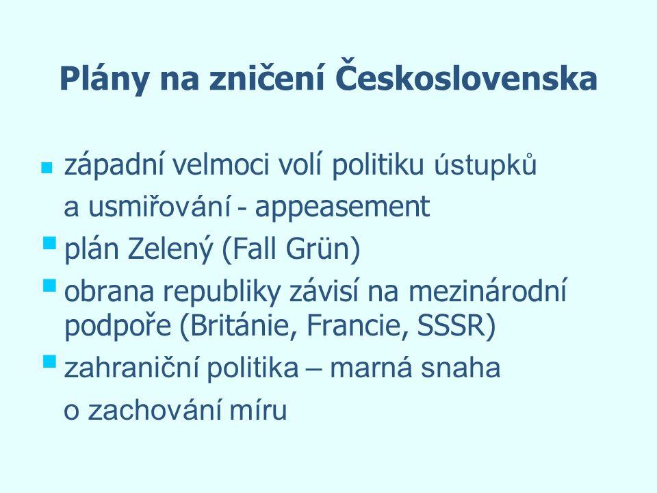 Plány na zničení Československa