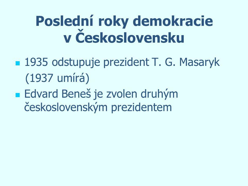 Poslední roky demokracie v Československu