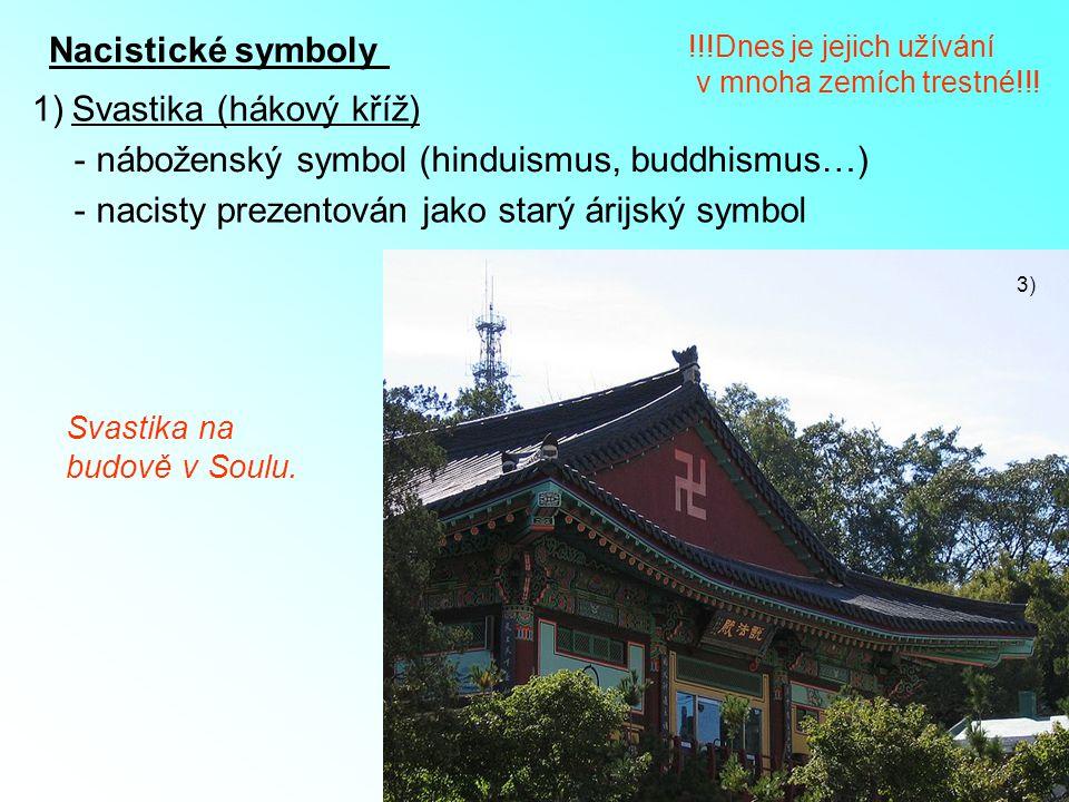 Svastika (hákový kříž) náboženský symbol (hinduismus, buddhismus…)