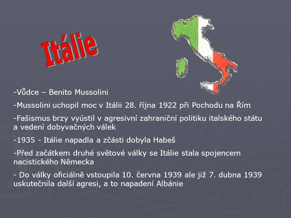 Itálie Vůdce – Benito Mussolini