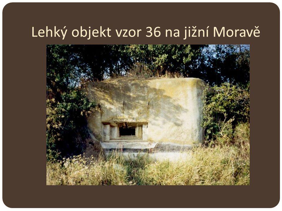 Lehký objekt vzor 36 na jižní Moravě