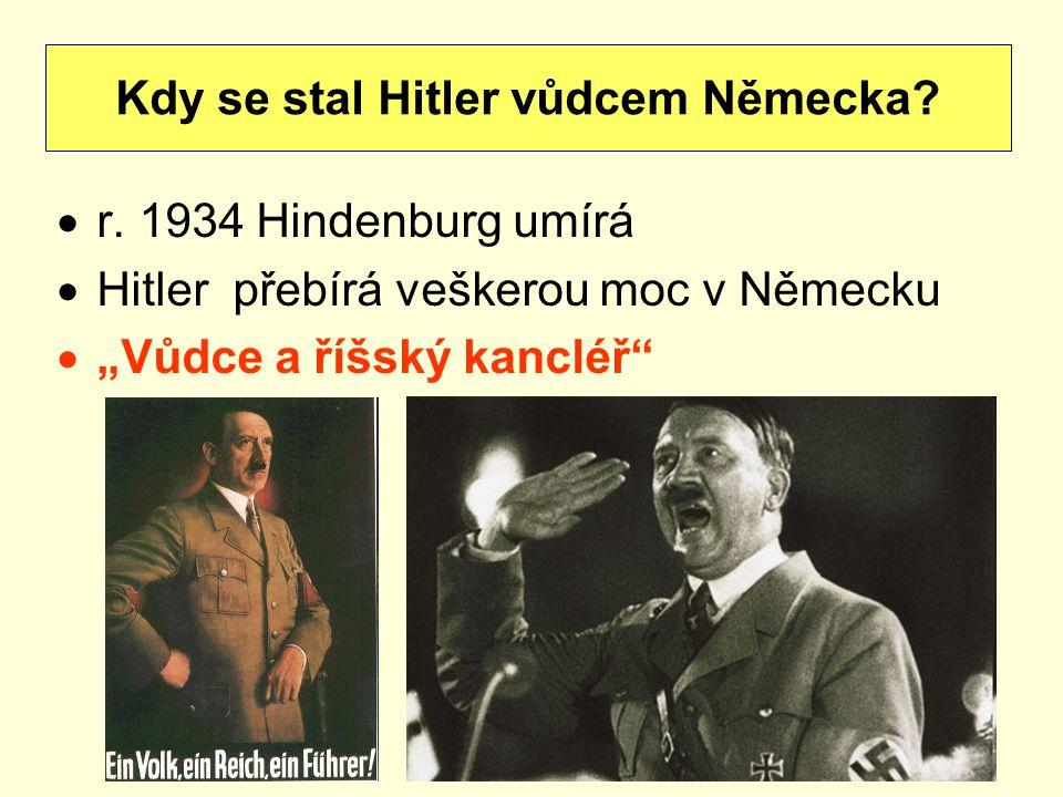 Kdy se stal Hitler vůdcem Německa